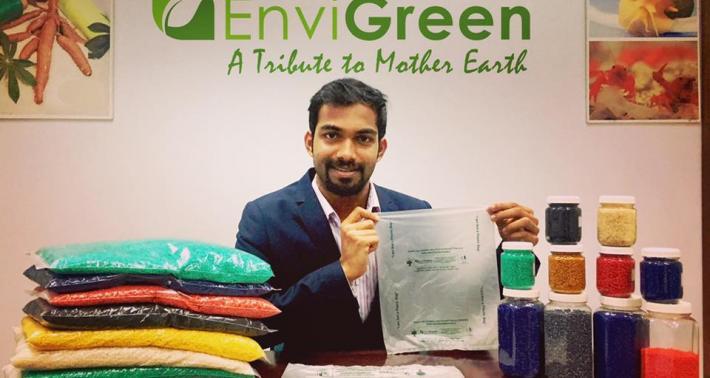 EnviGreen,「可食用」購物袋,印度,環保,塑膠袋